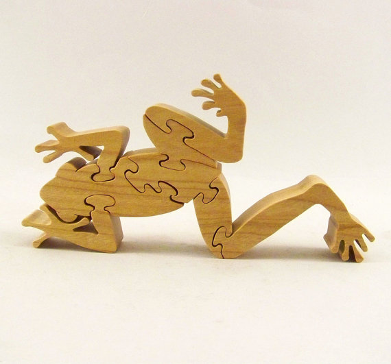 Frog Wood Puzzle