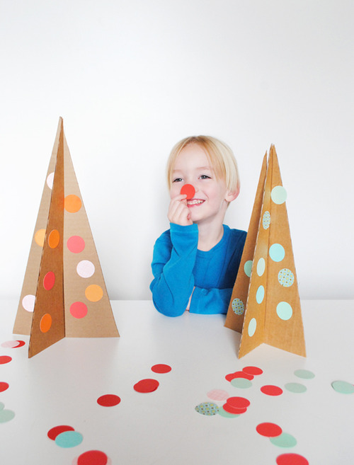 DiY Carboard Christmas tree