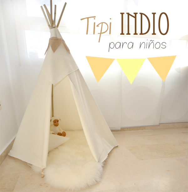 DIY: How to make a tipi for children's rooms