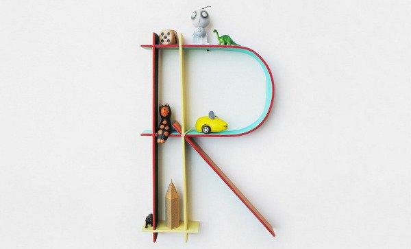 Letter shaped children 39 s decoration for Letter k decoration