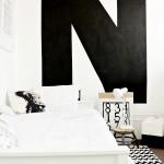 Monochrome boy's room