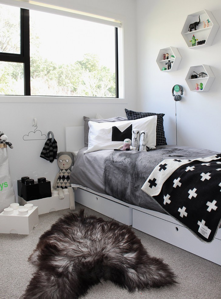 10 great kid s bedrooms in grey tones petit small for Cute kid rooms