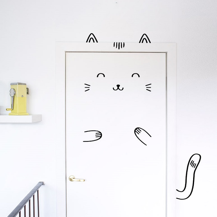 Doors Come Alive with Made Of Sunday's Wall Stickers