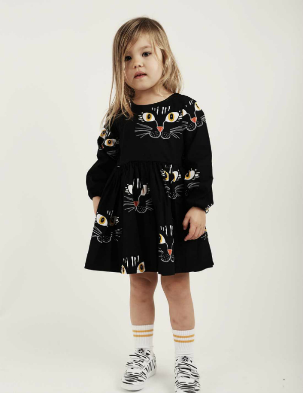mini-rodini-cat-face-dress-black