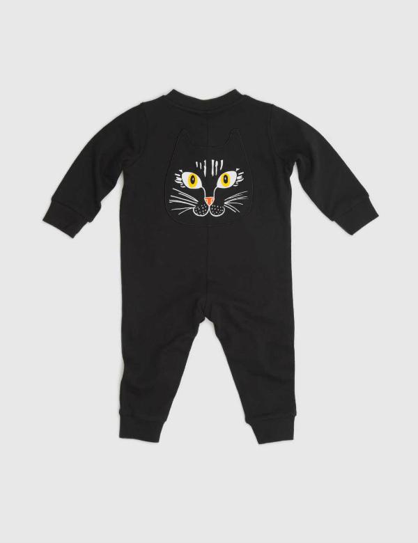 mini-rodini-cat-face-onesie-black