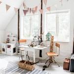 A vintage girl's room full of creativity