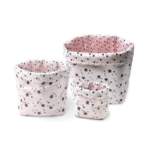 Add Sparkle to a Kid's Room with these Pretty Star Storage Baskets from Molly Meg