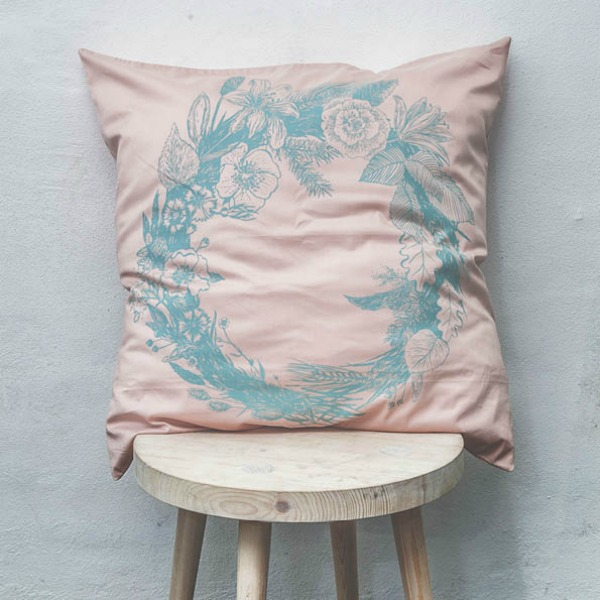 Softly, Softly – Beautiful Pink Pillow by Durch Duo