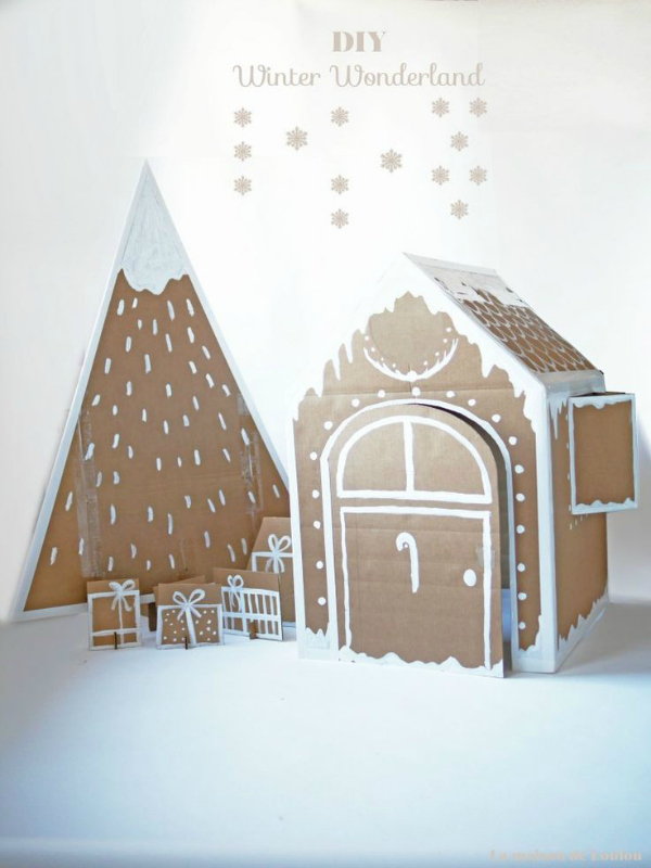 Xmas house and tree by La maison de Loulou