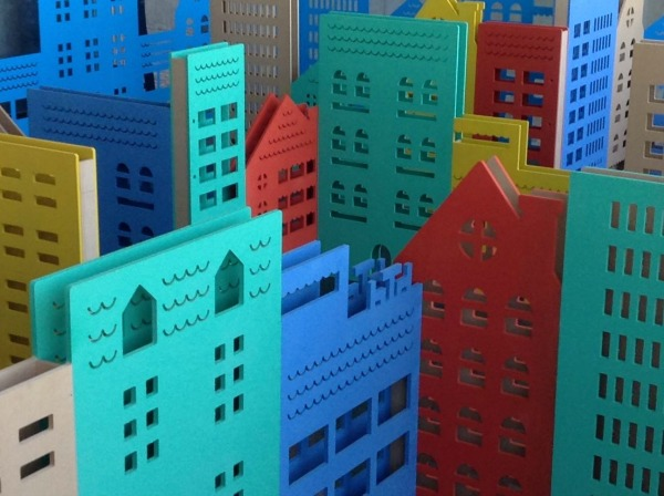 Colourful and creative city at the Inventando Ciudades (Inventing Cities) exhibition for kids in Buenos Aires