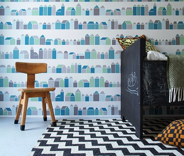 New Vintage Wallpaper Collection for Kids by Inke