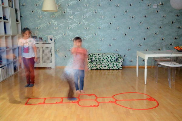 Anca Fetcu's rubber hop scotch can be played anywhere
