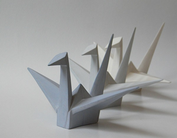 Porcelain origami by Alina Constantin