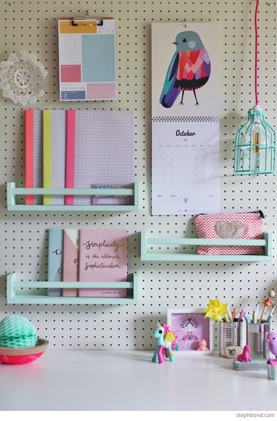 Functional Decor Ideas - Pegboard Organization