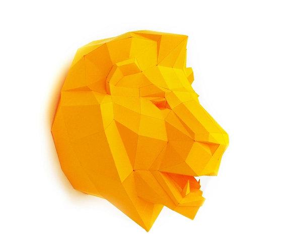 kids-wall-art-decor-paper-trophy-lion