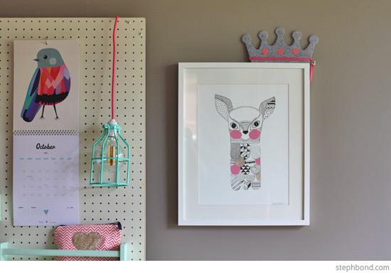 pink-mint-white-study-desk