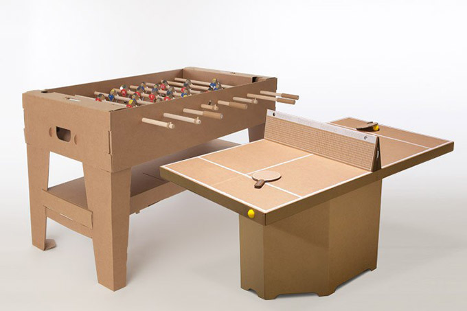 Tennino A Cardboard Play Table Tennis Petit Amp Small