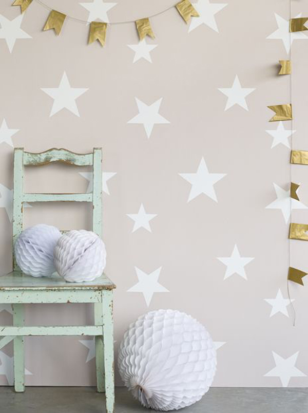 New kid 39 s wallpapers by hibou home petit small for Papel pintado estrellas