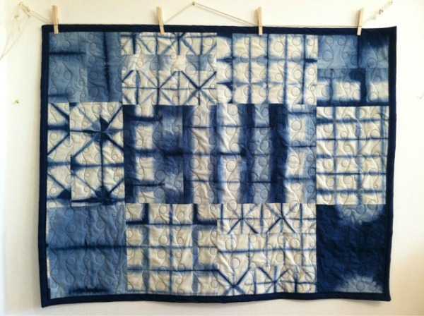 Handdyed Shibori Baby Quilt – a Modern, Gender Neutral Accessory