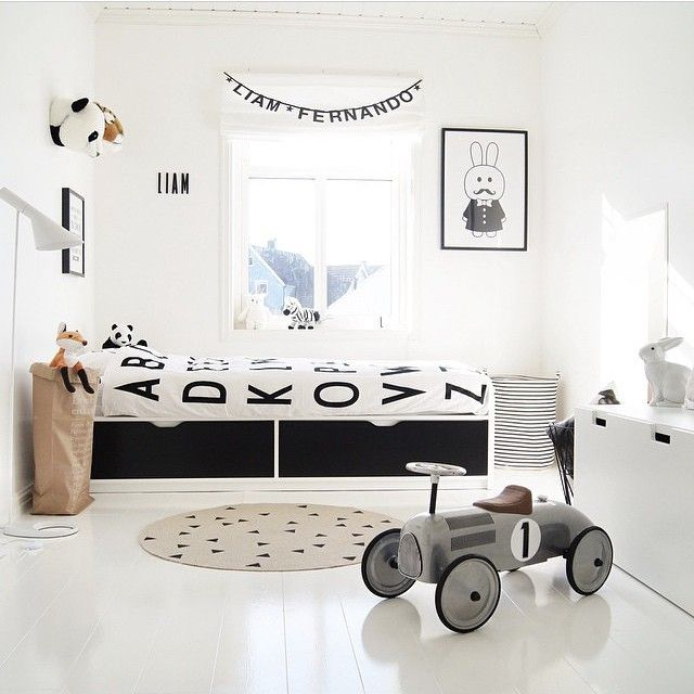 Black White Childrens Bedroom