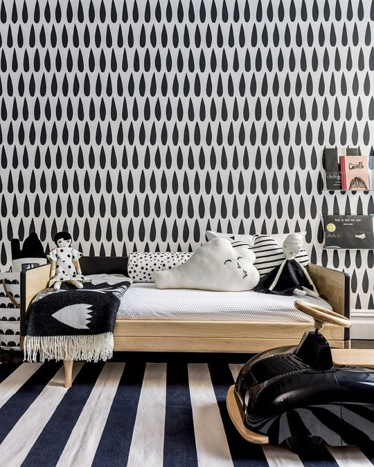 Black White Kids Room
