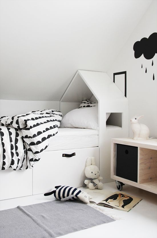 Kids Bedroom Black And White 7 black and white kids spaces - petit & small