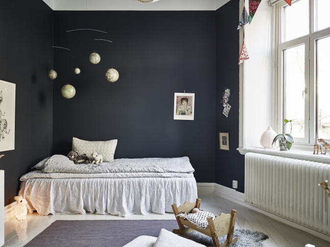 A Charming Dark Kids Room
