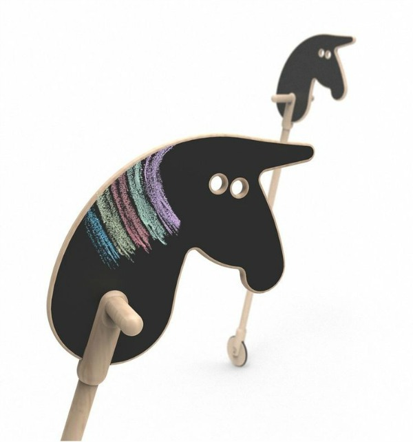 Chalkboard hobby horse on wheels from Ooh Noo
