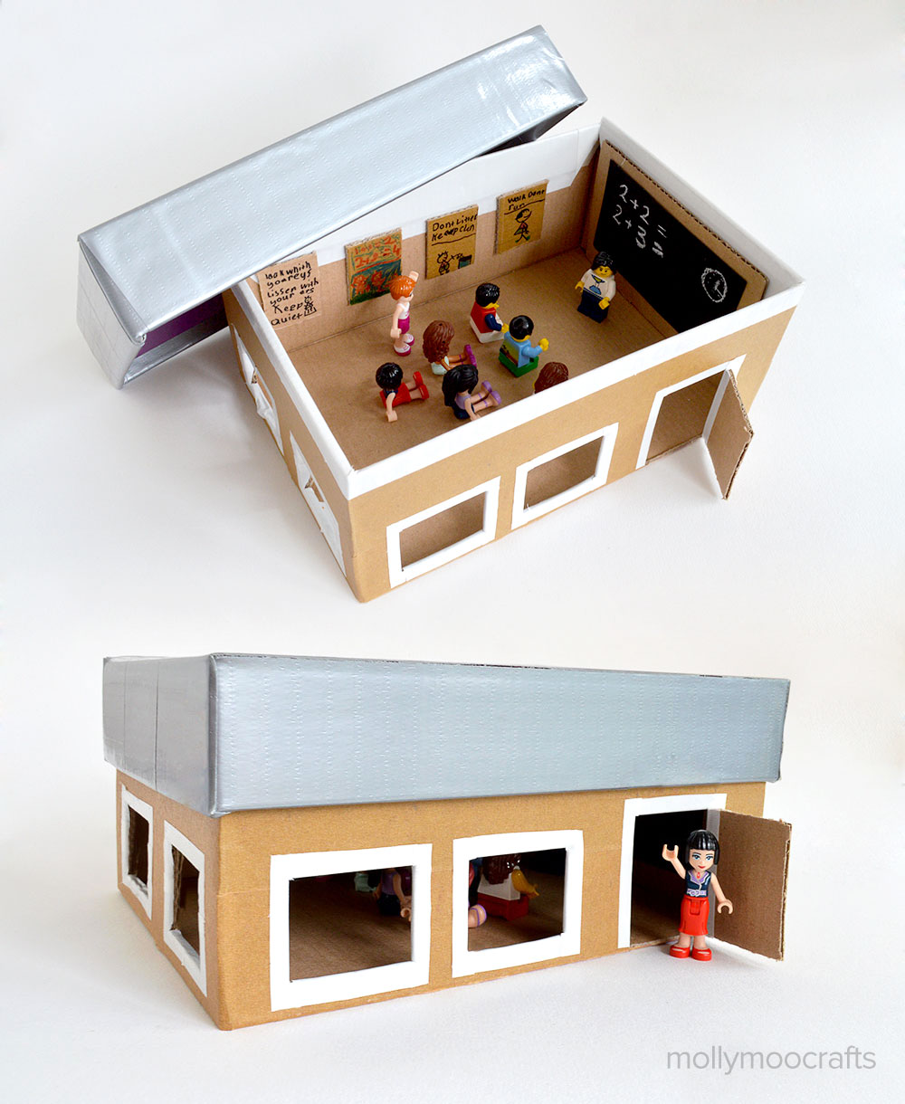 5 coolest diy kids toys made with cardboard petit small for Cool things to make out of a shoe box