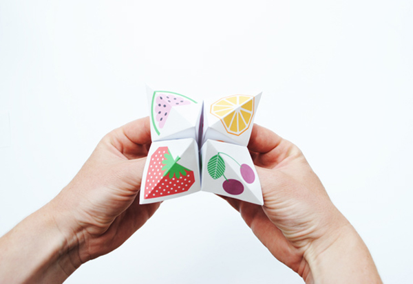 Customized paper fortune teller