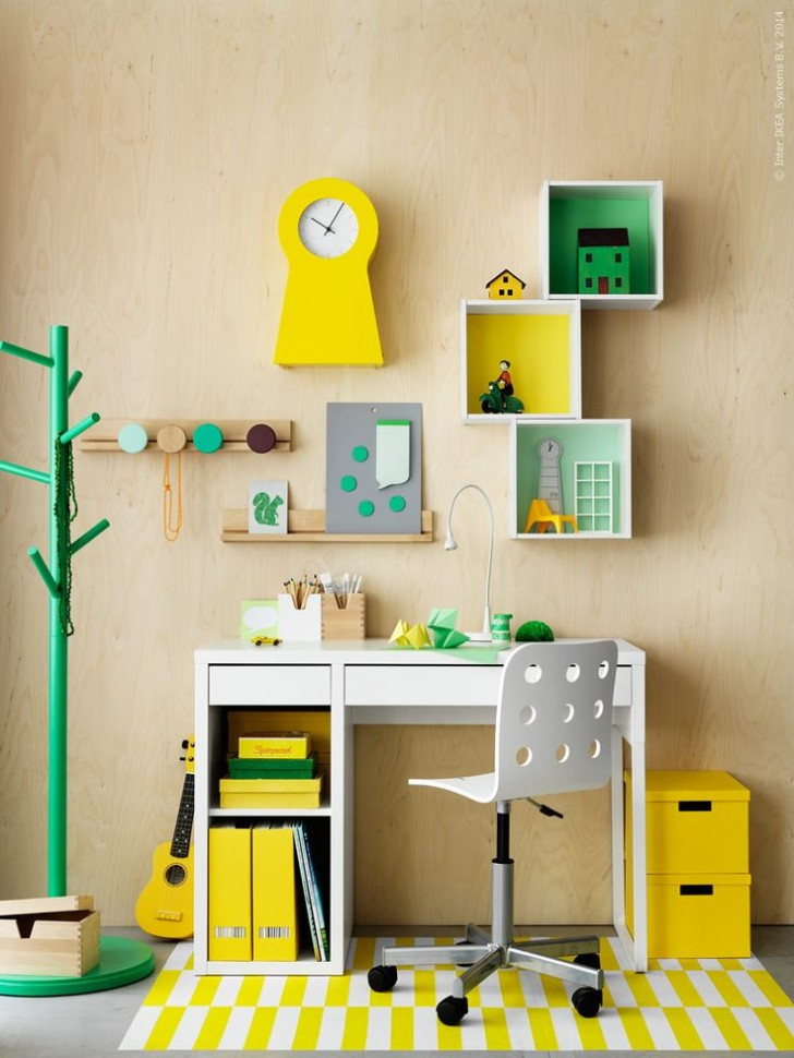 workspaces for kids micke desk by ikea petit small rh petitandsmall com Room Decor IKEA Bedroom Tumblr Room Decor IKEA