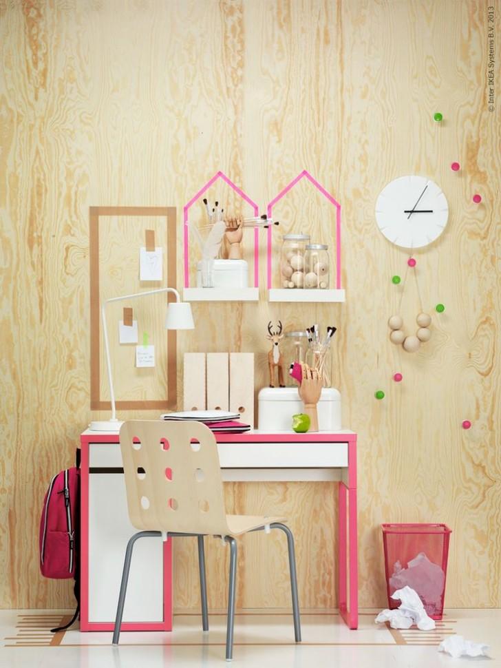 Ikea Hacks Micke Vanity Desk amp Irja Curtain Rods  YouTube