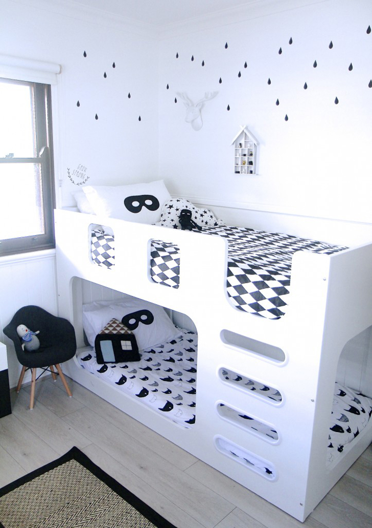 A Monochrome Kid's Room with Whimsical Details