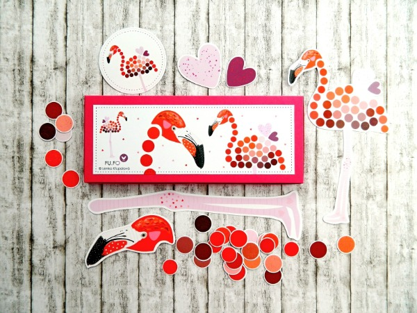 Love this large magnetic flamingo set by Fu. Fo!