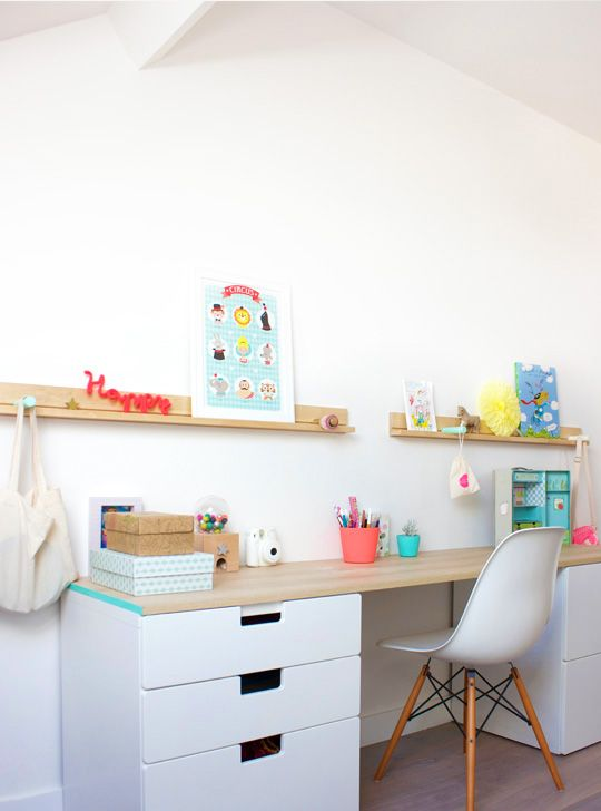 Ikea ideas and inspiration for kids decorating with stuva Amenagement bureau ikea