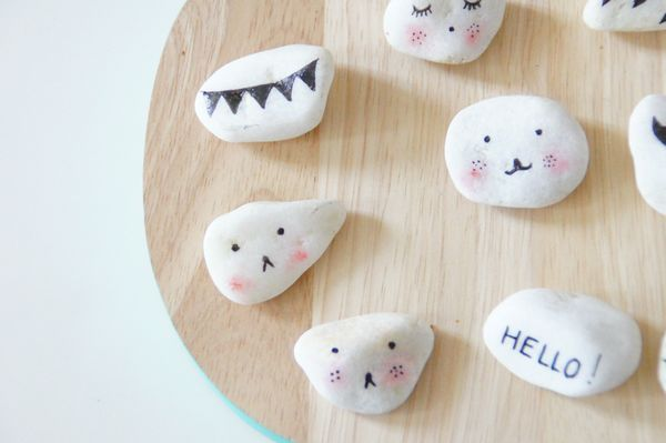 Crafts with Stones. 4 Ideas to Paint and Decorate
