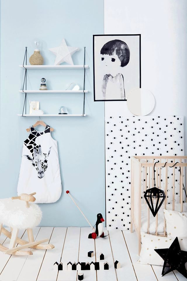 nursery-styling-blue-black-and-white