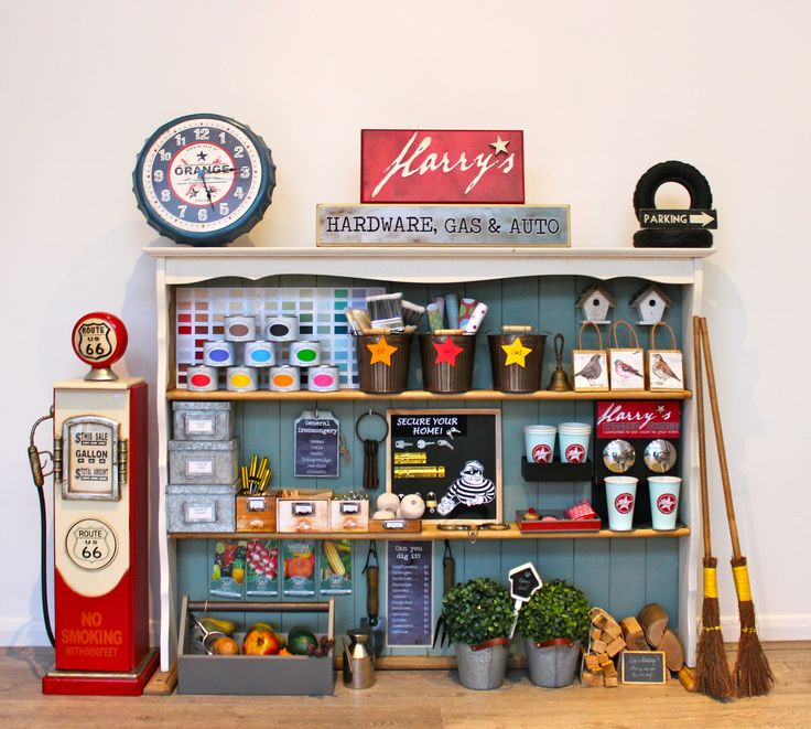 DIY Pretend play hardware store