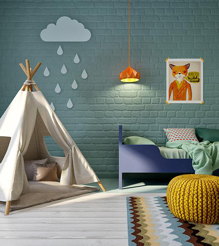 Modern Colourful Kids Room Petit Small