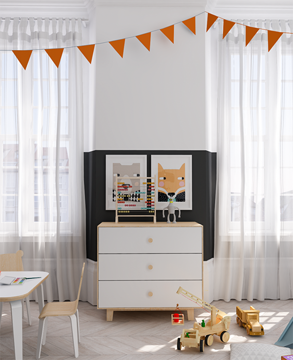 eclectic-orange-black-kids-room2