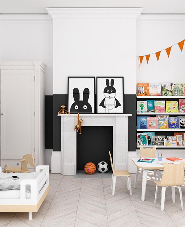 eclectic-orange-black-kids-room3