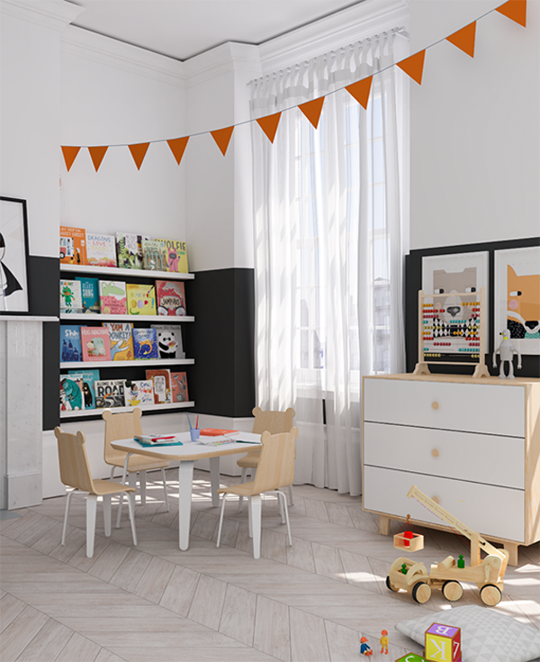 Orange Kids Room