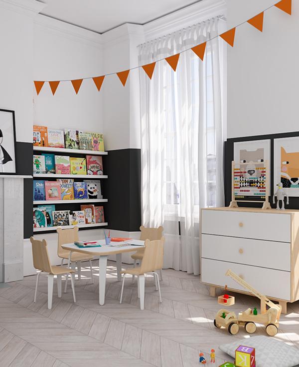 eclectic-orange-black-kids-room4