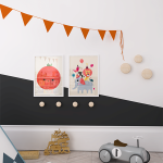 Black & Orange Kids' Room