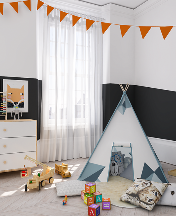 eclectic-orange-black-kids-room8