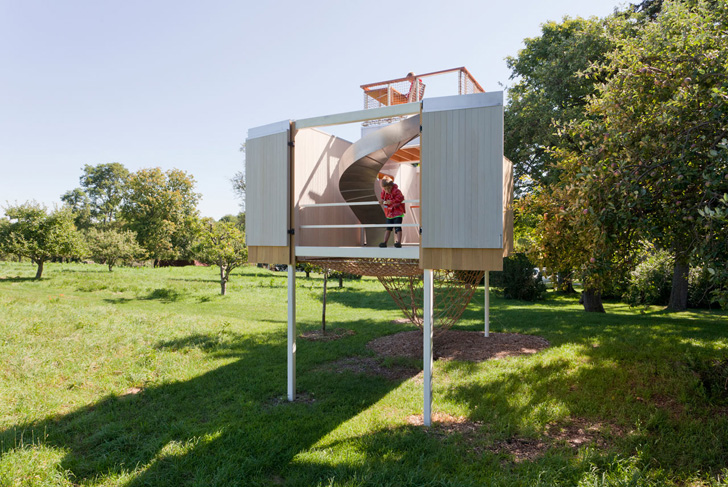 Exterior playhouse with a modern design petit small for Modern house roleplay