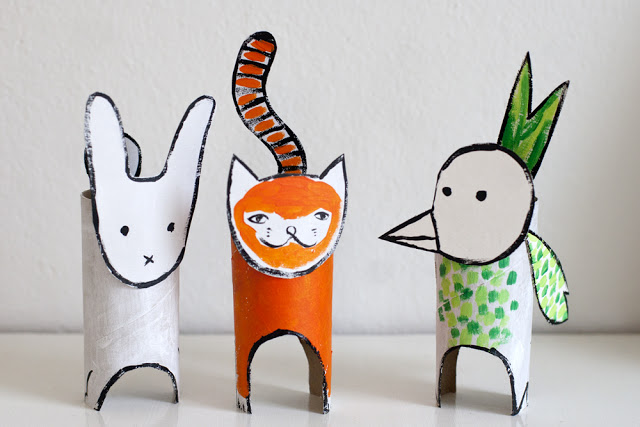 recycled- cardboard- animals