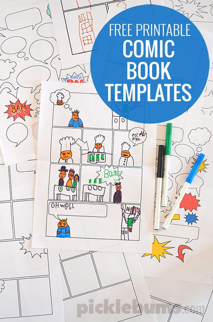 Play & Create: Templates to Create Comic Books