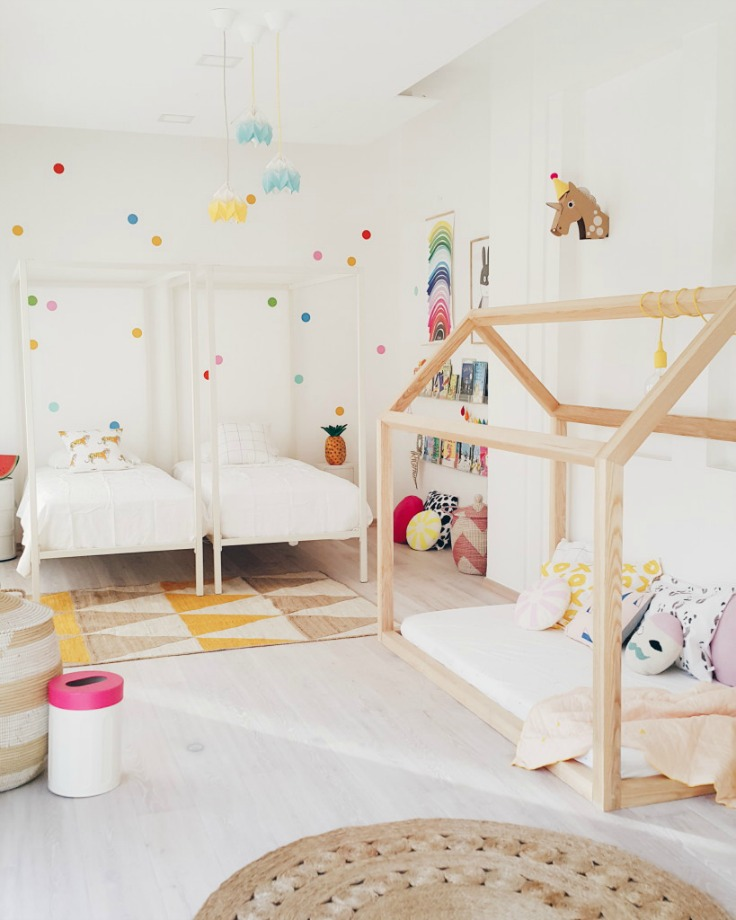 A fresh shared girl 39 s room petit small for 5 year girl bedroom ideas