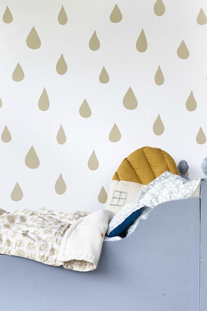 Hibou Home-Raindrops- wallpaper-kids-wall-decor5